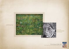 "Read more: https://www.luerzersarchive.com/en/magazine/print-detail/tintas-coral-43104.html Tintas Coral (""Patch of Grass,"" painted by Vincent Van Gogh in 1887. Woman's head picture discovered beneath the painting ""Patch of Grass,"" after x-ray analysis.) Tags: Leo Burnett Tailor Made, São Paulo,Tintas Coral,Carla Cancellara,Henrique Del Lama"