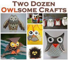 24 Owl Crafts  Pinned by www.myowlbarn.com