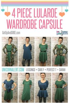 { 4 Piece LuLaRoe Wardrobe Capsule } Turn 4 pieces into 8+ outfits! #LuLaRoe #UnicornAlert #LoveLaughterAndFashionablyEverAfter www.GetUpAndGROE.com Join our VIP Customer Group >>> www.UnicornAlert.com