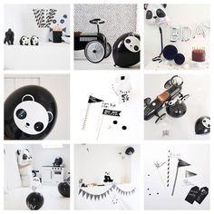 PANDA PARTY! #partylikeapanda #pandafeestje #zwartwit #kawaiicute #feest #verjaardag