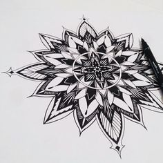 You need to follow this page!! Artist: @zentangledartwork @zentangledartwork @zentangledartwork _ #learnzentangle Tattoos Mandalas, Mandala Tattoo, Dad Tattoos, Body Art Tattoos, Tatoos, Mandala Drawing, Mandala Art, Tattoo Sketches, Tattoo Drawings