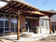 We have 20 years of experience designing and building Pergolas. View our Pergola photo gallery. Patio Design, Craftsman, Photo Galleries, Porch, Outdoor Structures, Covered Patios, Building, Pictures, House