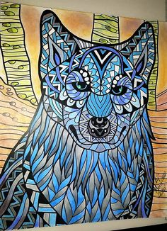 ColorIt Wild Animals Adult Coloring Book Colorist:Marianne Mancini-Guercio #adultcoloring #coloringforadults #adultcoloringpages #animalcoloringpages