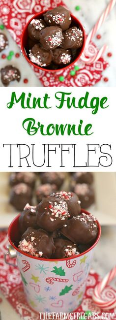 Fudge brownies and mint pair up to create these delicious Mint Fudge Brownie Truffles. This recipe is perfect for the holidays. #Ad #BakeInTheFun