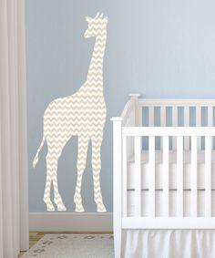 Another great find on #zulily! Gray Chevron Giraffe Decal #zulilyfinds