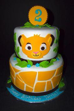 Lion King Cake Lion Cakes, Lion King Cakes, 3rd Birthday Cakes, Birthday Bash, Birthday Ideas, Lion King Party, Lion King Baby Shower, Lion King Birthday, Jungle Cake