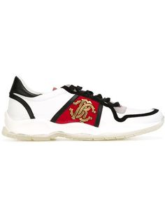 Shop Roberto Cavalli logo plaque panelled sneakers in Elite from the world's best independent boutiques at farfetch.com. Shop 300 boutiques at one address.