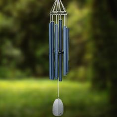 Woodstock Percussion 44 Inch Bells of Paradise Wind Chime - Pacific Blue