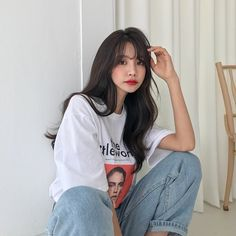 korean makeup looks Pretty Korean Girls, Cute Korean Girl, Asian Girl, Ulzzang Hair, Mode Ulzzang, Aesthetic Hair, Aesthetic Clothes, Aesthetic Fashion, Uzzlang Girl