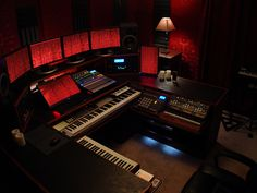 Another overview with the lights on in my rack by seanrieger, via Flickr