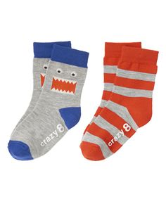 Monster Stripe Socks 2-Pack at Crazy 8