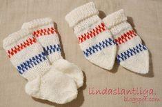 Mönster, babyvantar och sockor. |