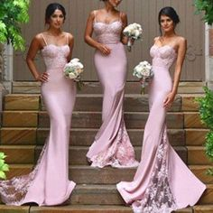 New Design Sexy Mermaid Sweet Heart Lace Long Bridesmaid Dresses, BG51046