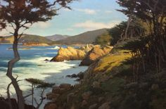 The Great Coast of Pt. Lobos by Brian Blood - Oil