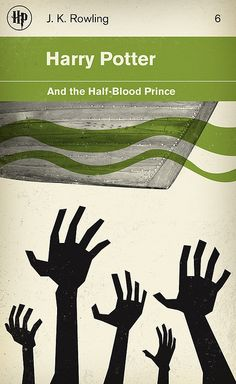 Harry Potter and the Half-Blood Prince. This is such a cooler looking cover than the typical American editions.