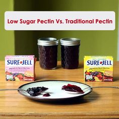 Foy Update: Side by Side Comparison of Traditional and Low Sugar Pectin Recipe for Grape Jelly