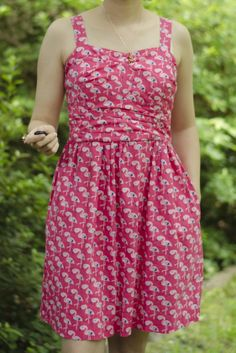 Flamingo Dress | Simplicity/Cynthia Rowley Pattern 2250 | All The Lovely Colors