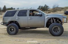 Save by Hermie Lifted Chevy Tahoe, Chevrolet Tahoe, Chevrolet Trucks, Chevy Silverado, Lifted Trucks, Cool Trucks, Chevy Trucks, Custom Pickup Trucks, Trophy Truck