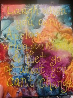 Crayon art with quote