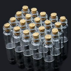 Wholesale 20pcs 2ml 16x35mm Small Tiny Empty Clear Glass Bottles Vials with Cork