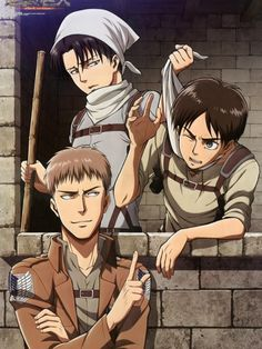 #AOT - Levi,Eren and Jean