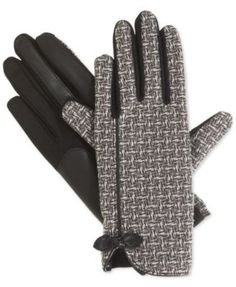 Isotoner Signature Stretch Basket Weave Tech Touch Gloves