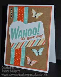 Along Came Stamping: Wahoo My Paper Pumpkin Kit Part 2 #StampinUp #HappiestBirthdayWishes