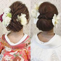 結婚式の前撮り 和装2点ロケーション撮影のお客様 最初に色打掛→次に白無垢にチェンジ 髪型も動きのあるスタイルから 面をしっかり出したスタイルへ♪ 全く違う雰囲気の花嫁さまに! バニラエミュの前撮りでは 2点プラン3点プランの ヘアチェンジが無料です(^^) ぜひ、ガラッとイメージを変えて 撮影を楽しんでくださいませ♪ 只今、~9月中旬までに撮影をされるお客様を対象に嬉しい特典付きのキャンペーンを実施しております♪ お気軽にお問い合わせください♪ #ヘア #ヘアメイク #ヘアアレンジ #結婚式 #結婚式ヘア #スタジオ撮影 #色打掛 #バニラエミュ #セットサロン #ヘアセット #アップスタイル #プレ花嫁 #フォトウェディング #前撮り #着物ヘア#ロケーション撮影#結婚式準備 #浴衣ヘア #お呼ばれヘア#2017夏婚 #2017春婚 #結婚準備#振袖ヘア#日本中のプレ花嫁さんと繋がりたい #2017秋婚 #振袖 #花嫁ヘア#和装ヘア#2017冬婚#updo Evening Hairstyles, Wedding Hairstyles, Wedding Kimono, Japanese Wedding, Graduation Hairstyles, Hair Arrange, Japanese Hairstyle, Courthouse Wedding, Bridal Hair
