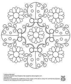 Marienkäfer-Mandala – Ideas with the kids - Malvorlagen Mandala Mandala Coloring Pages, Coloring Book Pages, Printable Coloring Pages, Coloring Sheets, Colouring Pics, Coloring Pages For Kids, Ladybug Coloring Page, Illustration Noel, Lady Bug