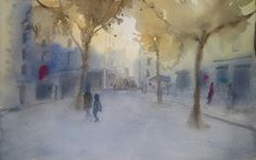 Pintar acuarelas: Un atardecer de invierno Snow, Painting, Outdoor, Art, How To Paint, Watercolors, Winter Sunset, Hacks, Scenery
