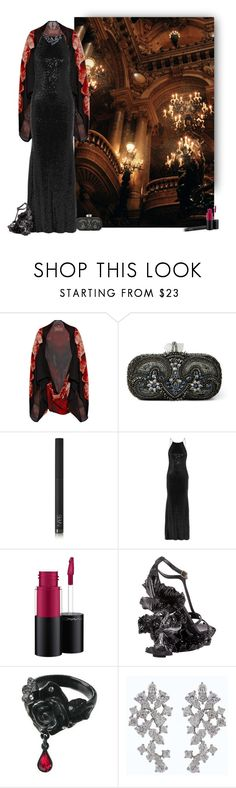 """New Queen"" by vveave-silk ❤ liked on Polyvore featuring Alexander McQueen, Marchesa, NARS Cosmetics, Badgley Mischka, MAC Cosmetics and Luxiro"