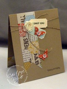 Spring Catalog Case, kraft tickets twine butterflies banner