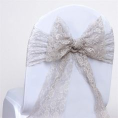 Create an elegant ambiance at your special event with efavormart's Lace Chair Decorations and Table Decorations. Buy our Lace Chair Sashes and Chair Covers at wholesale rates. Wedding Chair Sashes, Bow Tie Wedding, Wedding Chairs, Fall Wedding, Reception Decorations, Event Decor, Gatsby Theme, Floral Tablecloth, Winter Wonderland Wedding