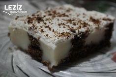 Muhallebi Dolgulu Kek Tarifi - Leziz Yemeklerim Food And Drink, Pudding, Desserts, Tailgate Desserts, Deserts, Puddings, Postres, Dessert, Plated Desserts