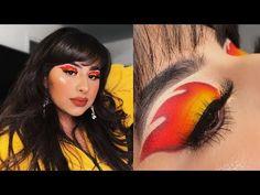 eyeshadow fire look Fire Makeup, Makeup Eye Looks, Eyeshadow Looks, Pretty Makeup, Eyeshadow Makeup, Eyeliner, Makeup Inspo, Makeup Art, Makeup Inspiration