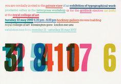 Modern take on letterpress - Ian Gabb from Royal College of Art