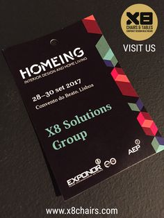 X8 Chairs & Tables is present in the HOMEING event. VISIT US and be AMAZED by our new collections.