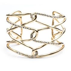 charm and chain gold link cuff #GOWSRedesign