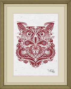 5x7 Owl Print on 100% Recycled, Fair Trade Paper on Etsy, $10.00 #owl
