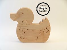 Duck Wooden Jigsaw Puzzle Duckling Easter Spring