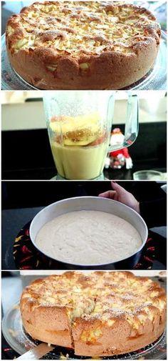 Bolo de Maçã Fofinho Sabor é Surpreendente, um bolo maravilhoso e fácil de fazer. #receita #gastronomia #culinaria #comida #delicia #receitafacil #cozinha #bolo #maca #fofo #facil Veggie Recipes, My Recipes, Dessert Recipes, Trifle, Pastel Cakes, Brownie Cupcakes, Learn To Cook, Food And Drink, Yummy Food