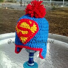Crochet DC Comic's Superman Beanie by Isabel's Boutiquee