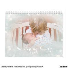 Dreamy Bokeh Family Photo Calendar