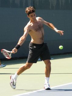 roger federer-shirtless-usopen