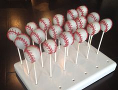 Baseball Cake Pops by TheCakeBallerina on Etsy