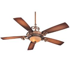 Check out the Minka Aire Napoli 5 Blade 2 Light Ceiling Fan in Tuscan Patina - blades Included Traditional Ceiling Fans, Large Fan, Outdoor Ceiling Fans, Led Ceiling, Fan Light Kits, Ceiling Fan With Remote, Wall Fans, Minka, Rustic Design