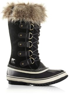 Sorel Womens Joan Of Arctic Waterproof Boot - Black Stone