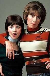 "laverne & shirley... My sisters name starts ""L"" and mine with ""S"" and honestly we were very much like them... makes me laugh! I even had a boo boo kitty named Vegas kitty! :D"