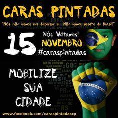 Brasil-Política-2014-Campanha-Caras pintadas-15 de novembro