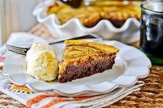 Pumpkin-Brownie Swirl Pie | Full Fork Ahead